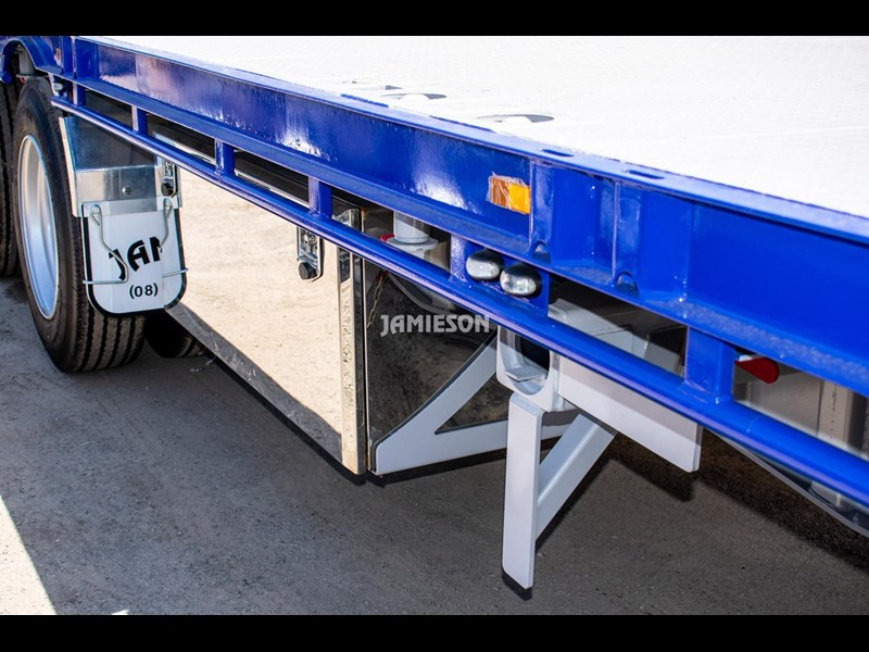 jamieson drop deck trailer - tri-axle - road train rated - 13.7m 45' 15597 007