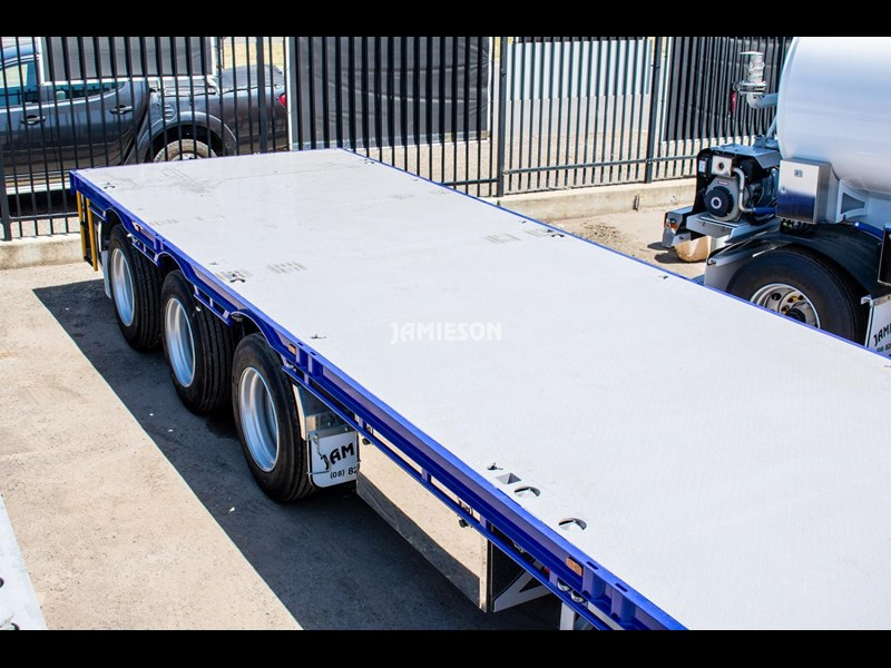 jamieson drop deck trailer - tri-axle - road train rated - 13.7m 45' 15597 021