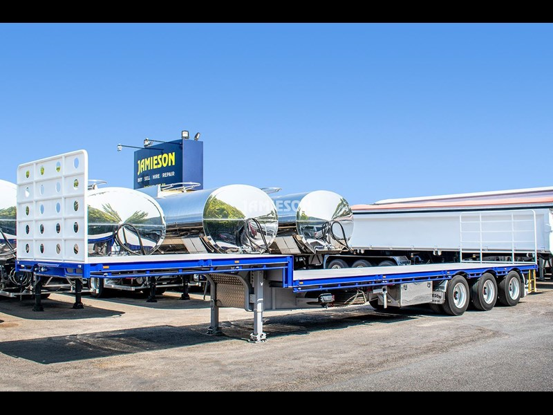 jamieson drop deck trailer - tri-axle - road train rated - 13.7m 45' 15597 035