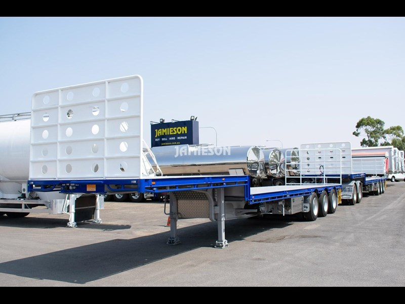 jamieson drop deck trailer - tri-axle - road train rated - 13.7m 45' 15597 037