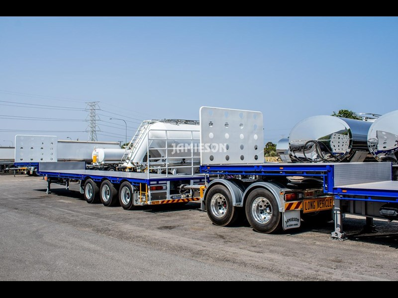 jamieson drop deck trailer - tri-axle - road train rated - 13.7m 45' 15597 039