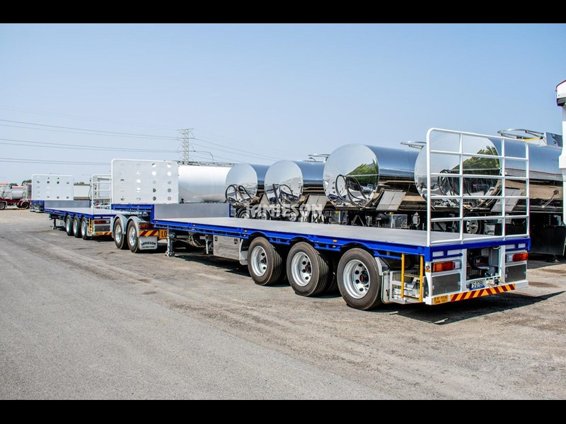 jamieson drop deck trailer - tri-axle - road train rated - 13.7m 45' 15597 041