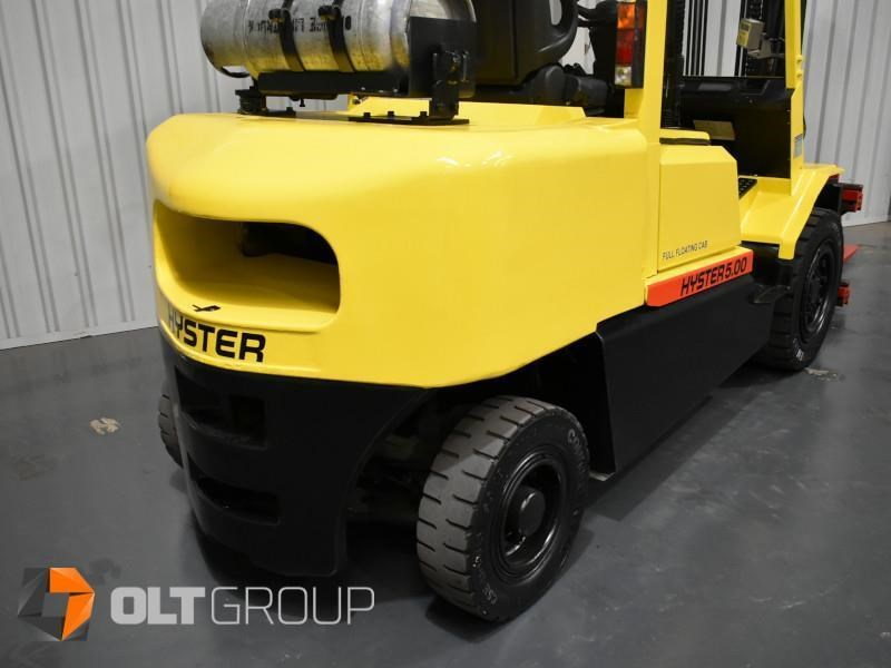 hyster h5.00dx with rotating pallet fork attachment 783107 017