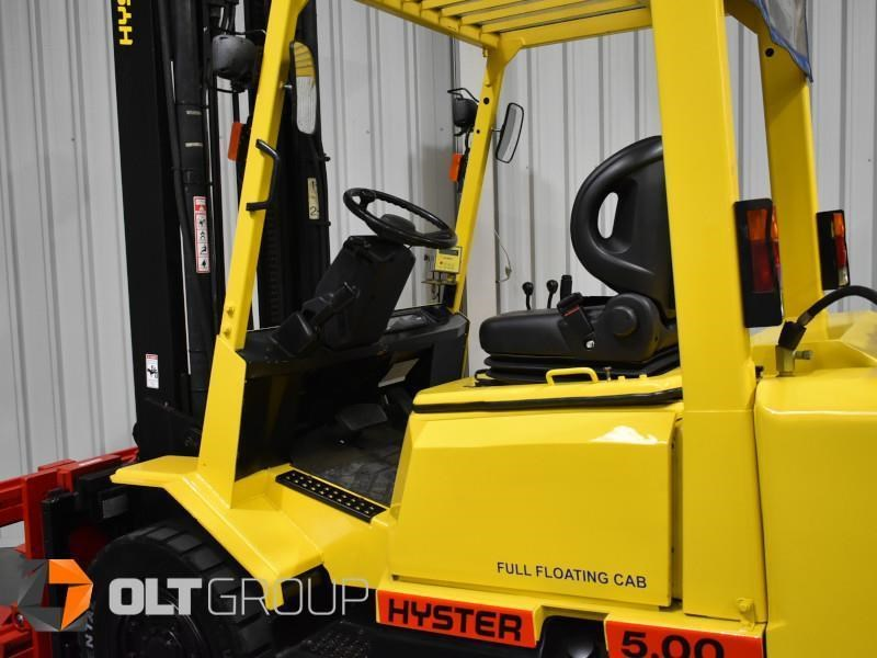 hyster h5.00dx with rotating pallet fork attachment 783107 023