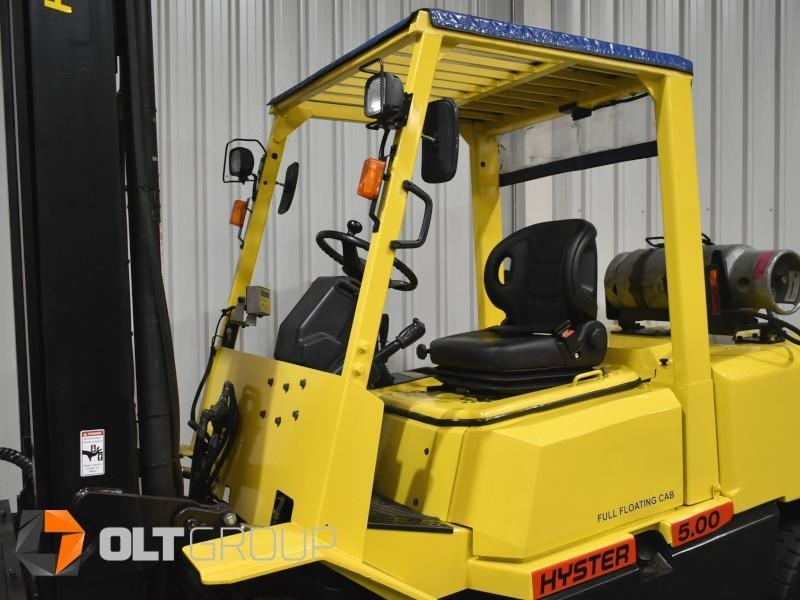 hyster h5.00dx with rotating pallet fork attachment 783107 025