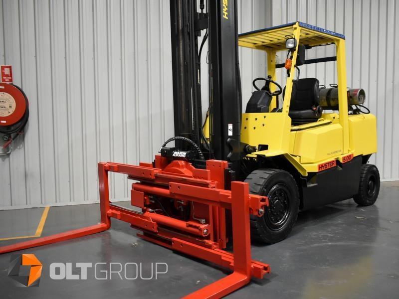 hyster h5.00dx with rotating pallet fork attachment 783107 029