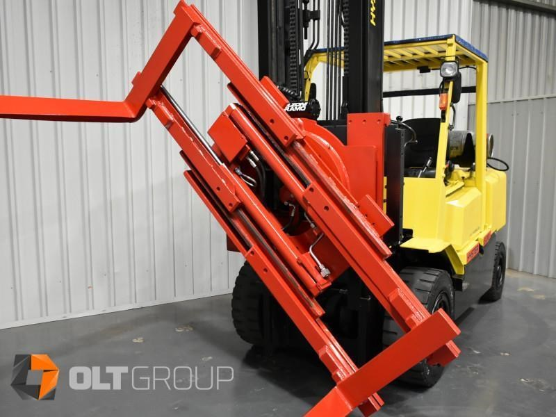 hyster h5.00dx with rotating pallet fork attachment 783107 035