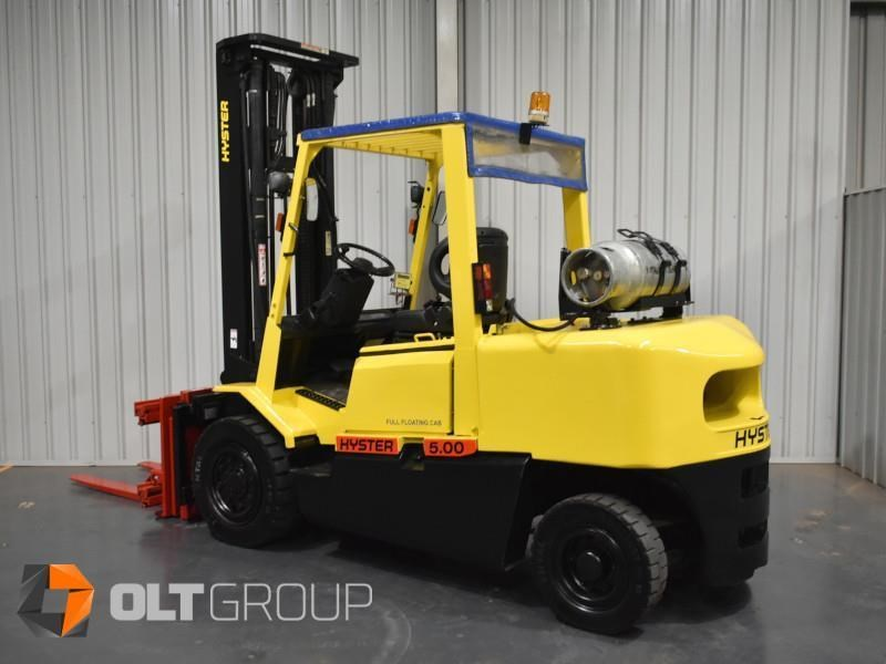 hyster h5.00dx with rotating pallet fork attachment 783107 045