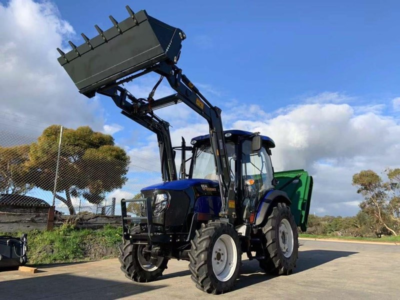 trident 65hp tractor with fel 4in1 bucket 784545 051