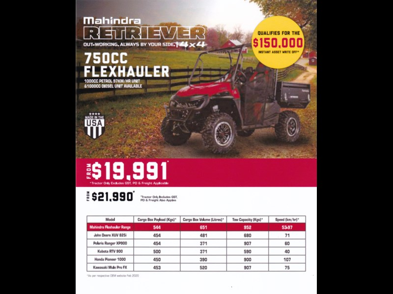 mahindra retriever 750 cc flexhauler 790695 001