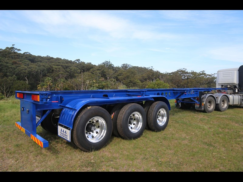 aaa 2020 aaa 40' 3 way light weight 4.6t skeletal trailer-ebs 797939 005