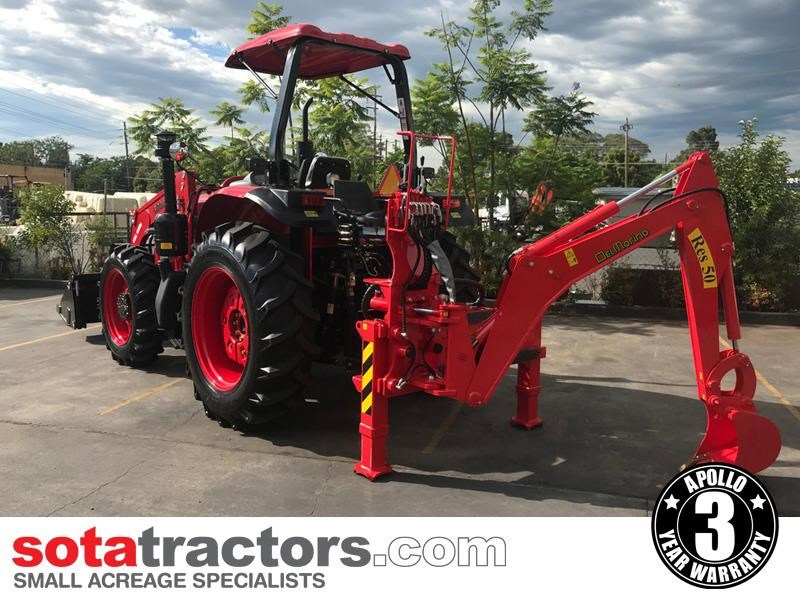 apollo 95hp tractor + 4 in 1 loader + backhoe 804495 011