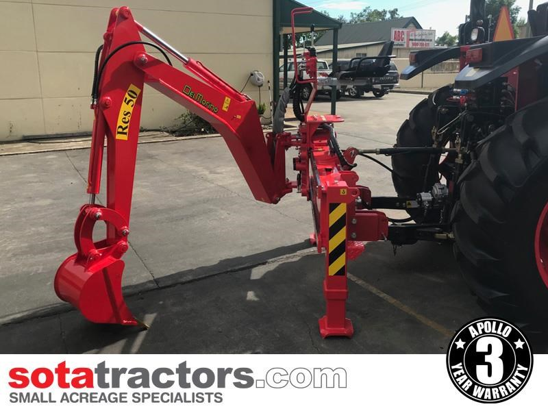 apollo 95hp tractor + 4 in 1 loader + backhoe 804495 015