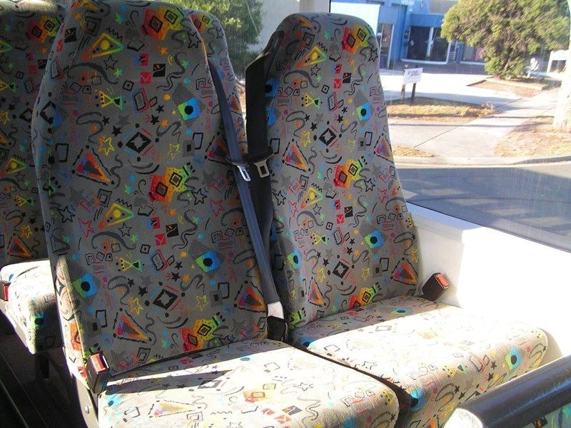 styleride high back coach seats with lap/sash belts (adjustable legs). 827172 001