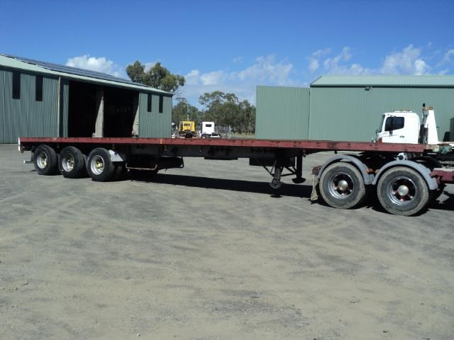 krueger 45ft flat top semi trailer 828685 005