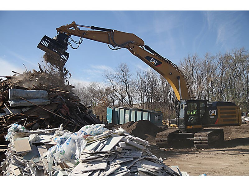 caterpillar g315b-r demolition and sorting grapple 41096 001