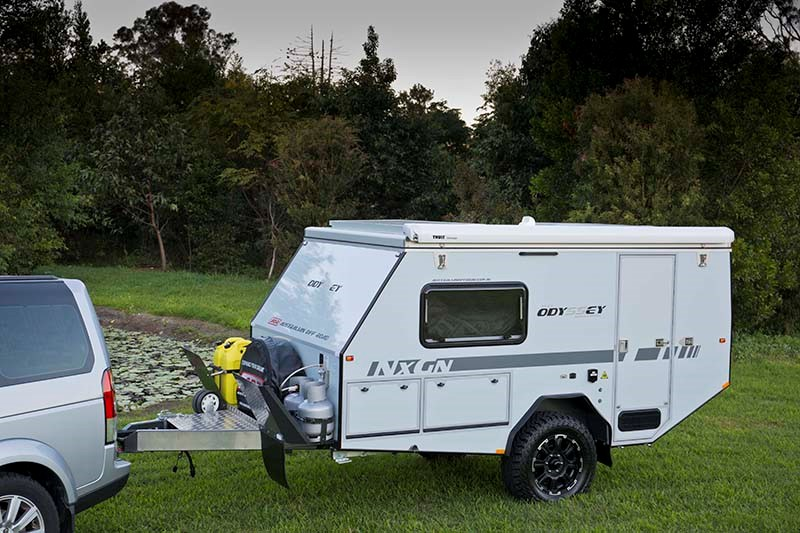 new australian off road odyssey series 11 off road pop top camper trailers for sale. Black Bedroom Furniture Sets. Home Design Ideas