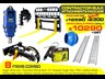 auger torque [special deal] grease gun - contractors bulk attachments package [8 items] [attcombo] 237150 004