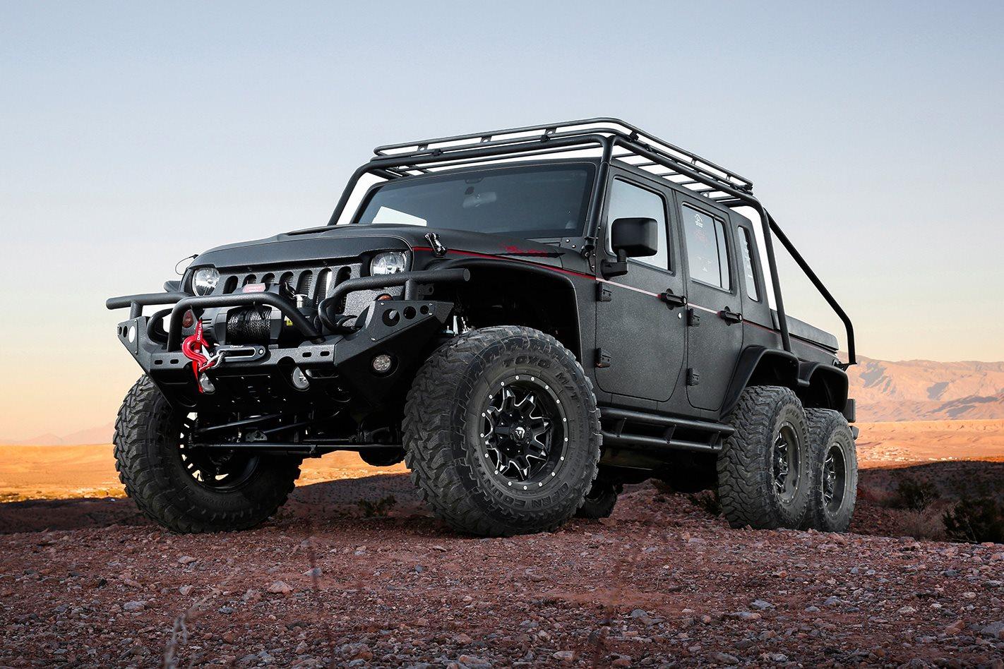 Custom 4x4 6x6 Hellhog Jeep Wrangler