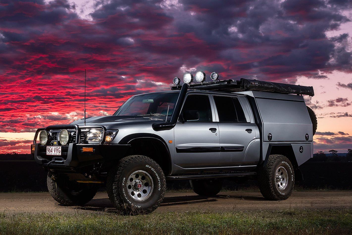 rv creations dual cab nissan gu patrol custom 4x4 4x4 australia. Black Bedroom Furniture Sets. Home Design Ideas