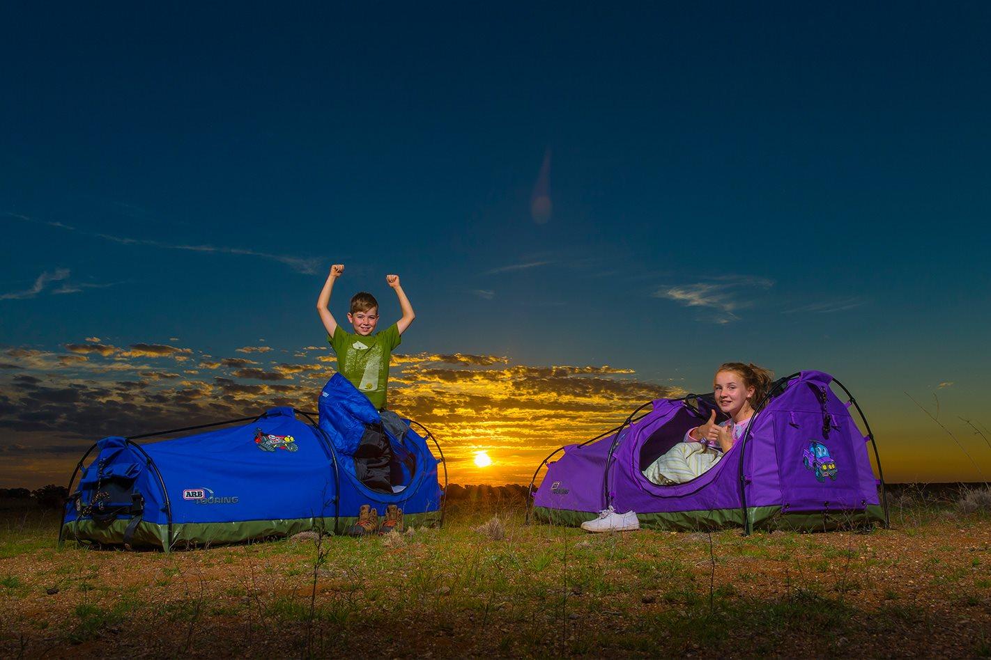 Tent nailing at camp