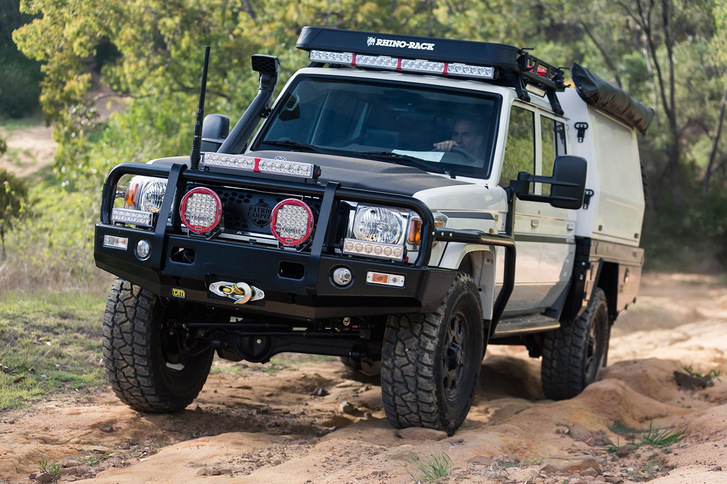 patriot campers go global with this landcruiser 79 series build 4x4 australia. Black Bedroom Furniture Sets. Home Design Ideas