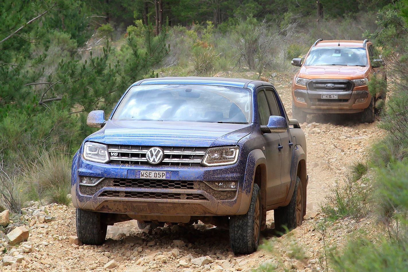 Volkswagen Amarok V6 vs Ford Ranger Wildtrak comparison review
