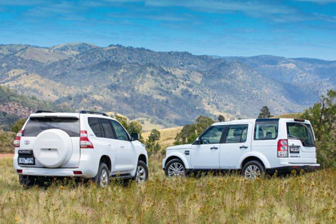 Toyota Prado GXL vs Land Rover Discovery rear