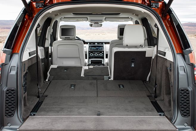 Land Rover Discovery folded seats