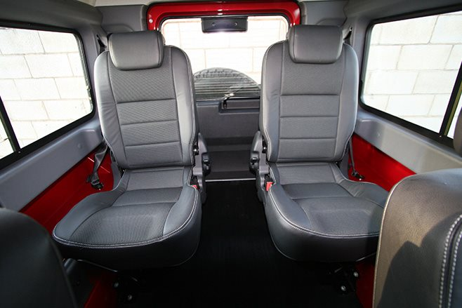 Land Rover Defender 90 rear seats