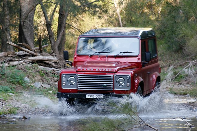 Land Rover Defender 90 driving