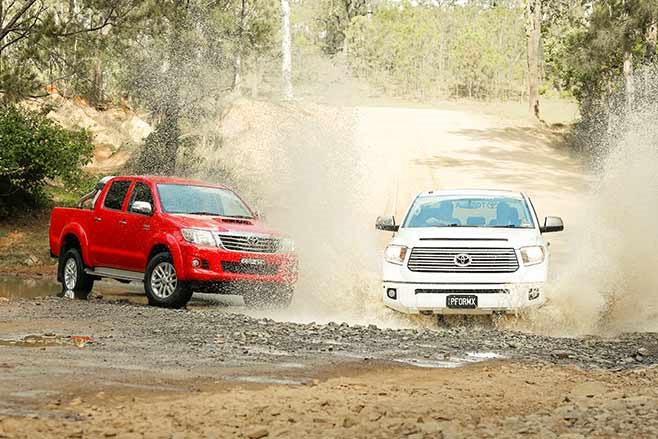 Toyota-Tundra-Crewmax-vs-Toyota-Hilux-SR5-double-cab-splash