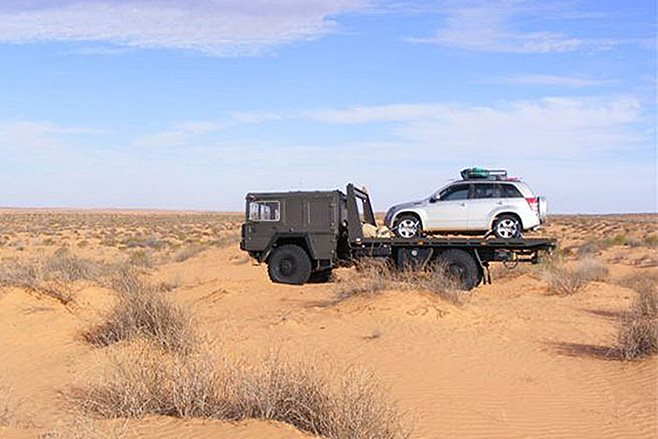 towing in the desert