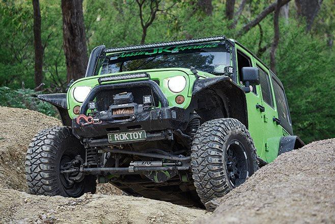 Custom Jeep JKU Wrangler Rubicon front