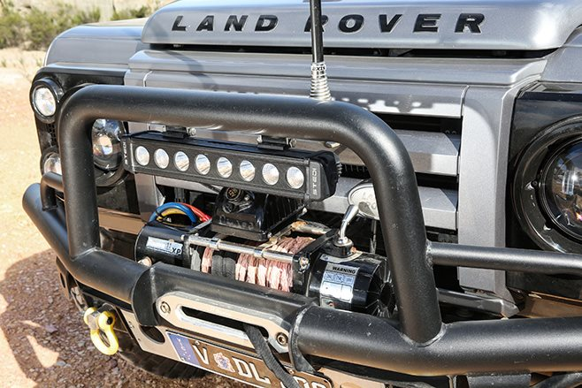 custom land rover defender 90 bullbar