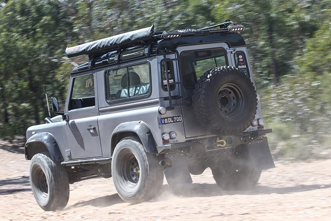 Custom Land Rover Defender 90 rear