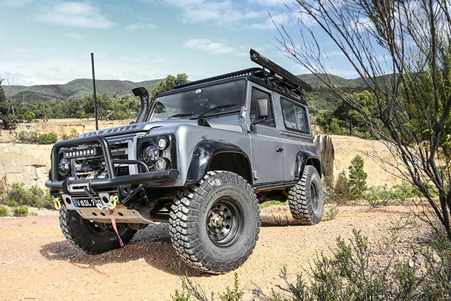 custom land rover defender 90 front