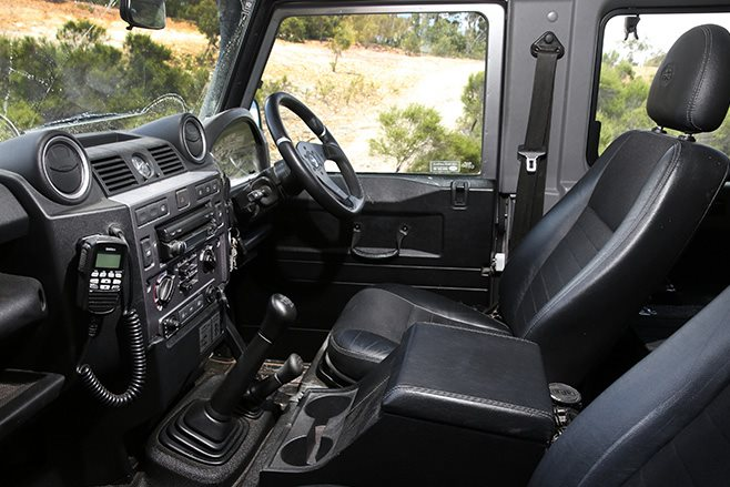 custom land rover defender 90 interior