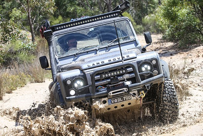 custom land rover defender 90 offroad