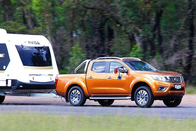 Nissan Navara ST-X driving