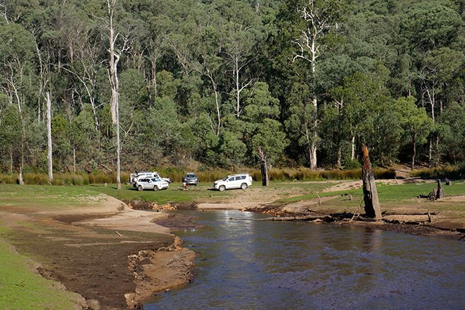 camping on King River