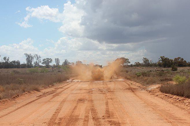 muddy driving