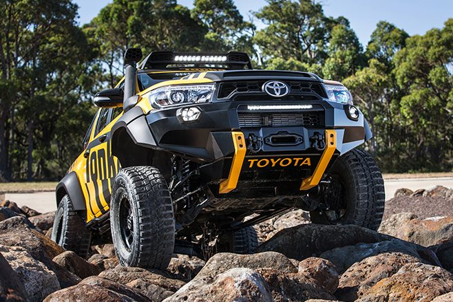 2017 Toyota Hilux Tonka Concept rock crawling