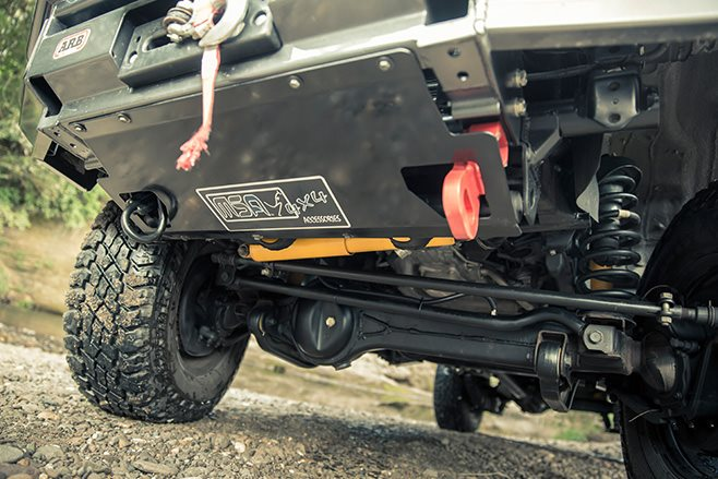 MSA bash plate and suspension