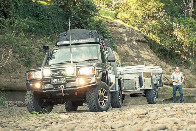 MSA Toyota Land Cruiser 79 Series towing