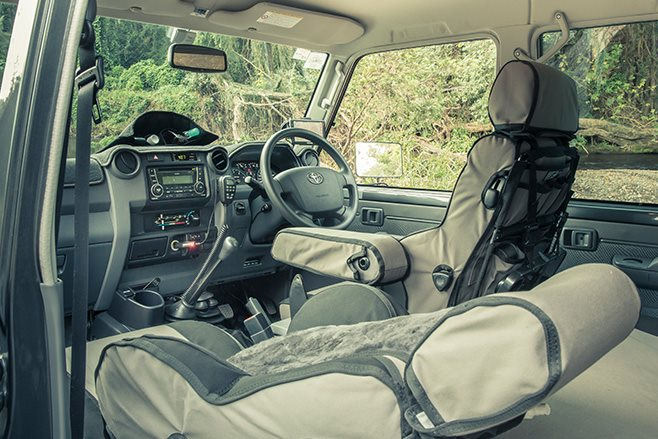 MSA Toyota Land Cruiser 79 Series interior