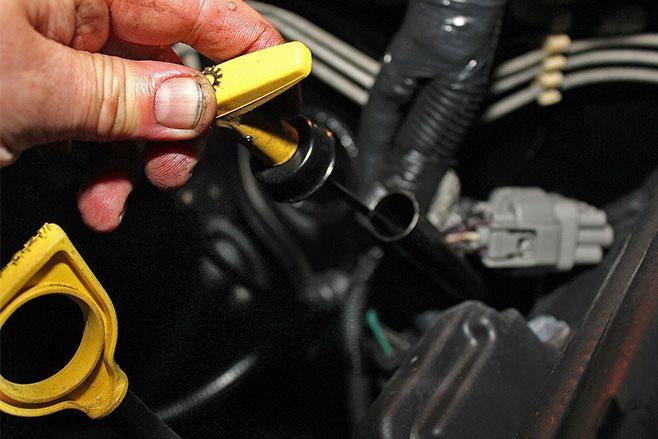 remove auto transmission dipstick
