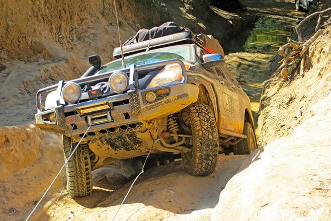 Custom MSA 4x4 Mazda BT-50 winching