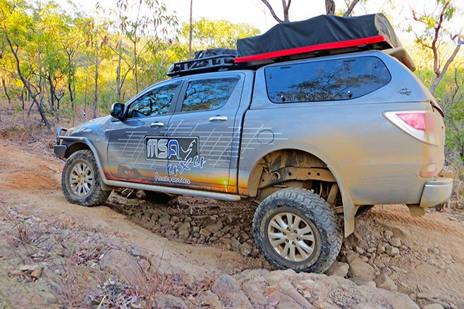 Custom MSA 4x4 Mazda BT-50 rear