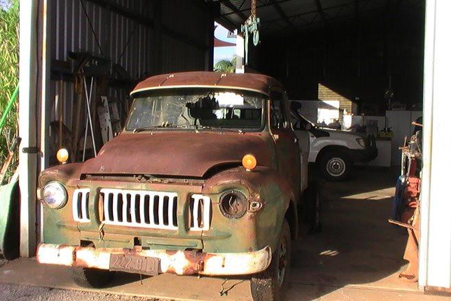 Custom 1968 J Series Bedford in shed